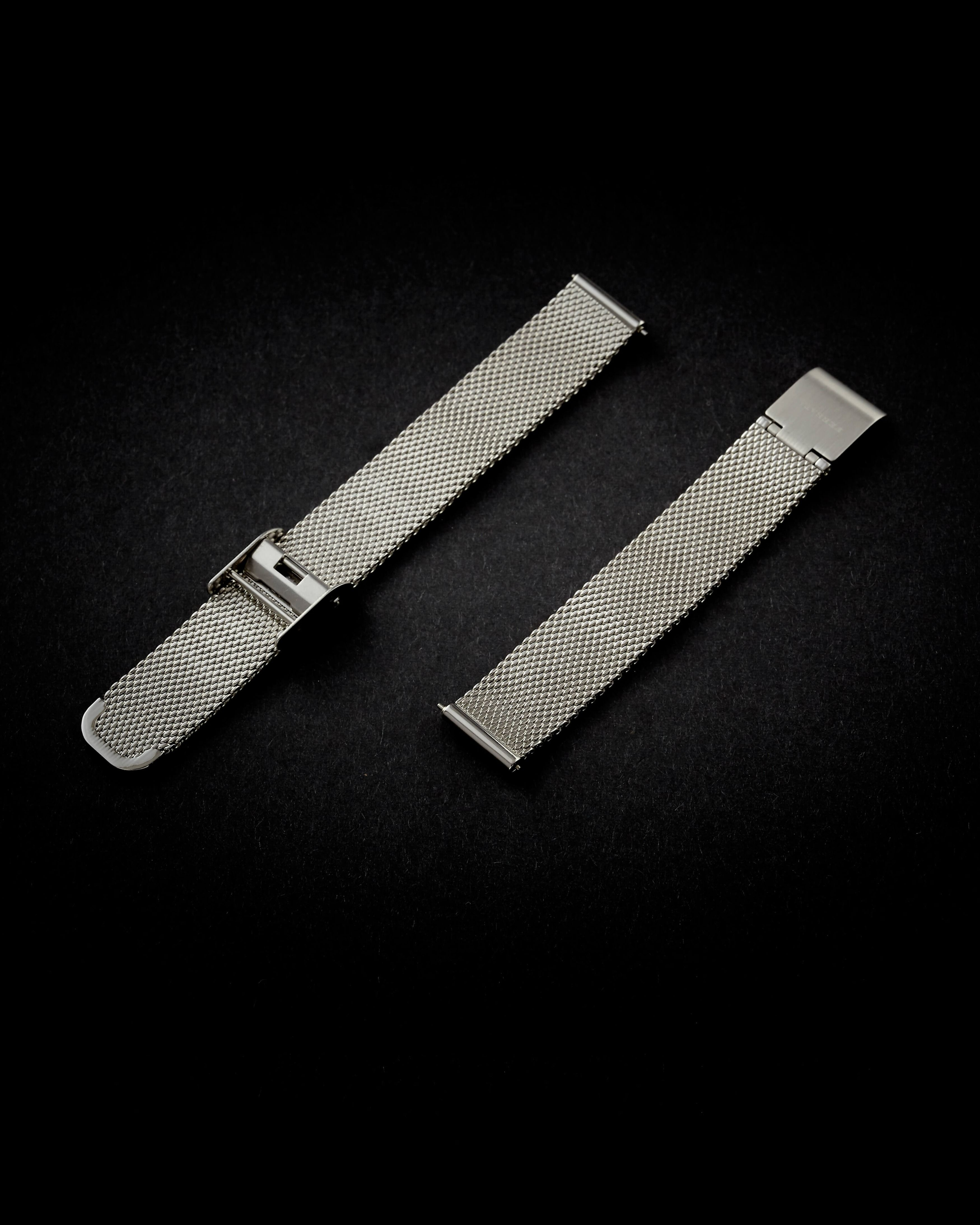 Silver mesh strap 14mm, silver buckle