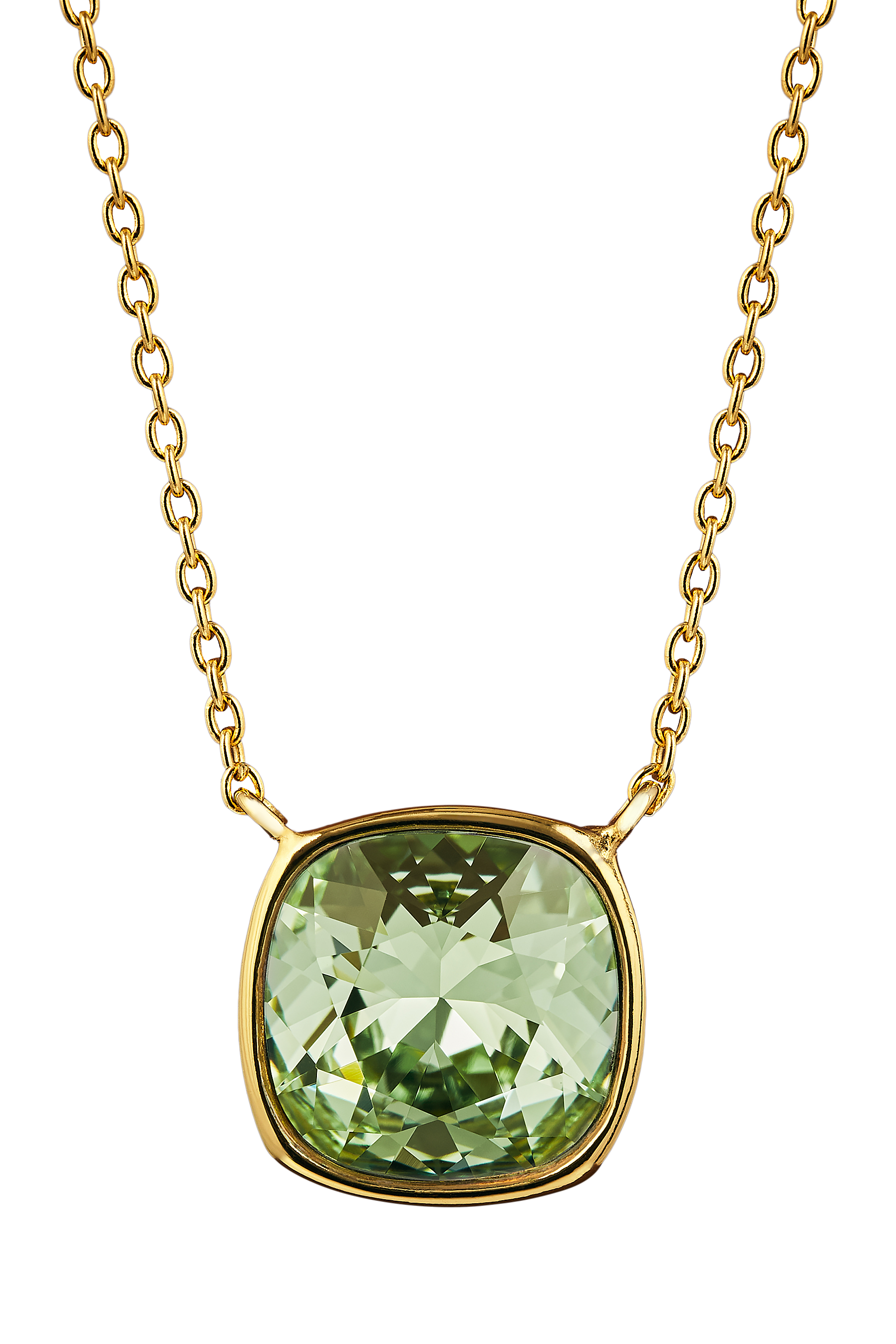 Collana Silver Chrysolite Green